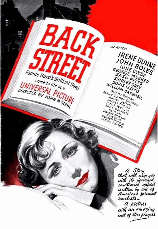 Back Street 1932 on DVD