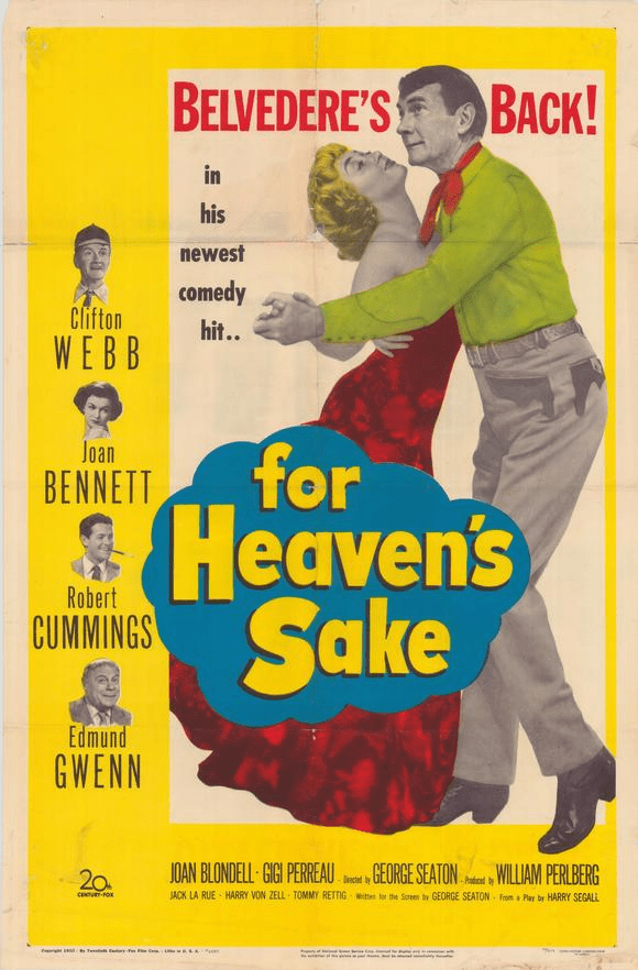 For Heaven's Sake 1950 on DVD