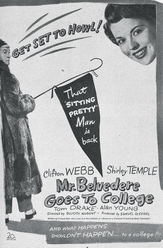 Mr. Belvedere Goes to College 1949 on DVD