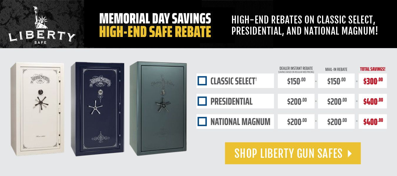 Liberty High Security Safe Memorial Day Rebate Offer