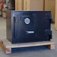 "Used AMSEC C-Rate Heavy Duty Safe 1"" solid Steel Door"
