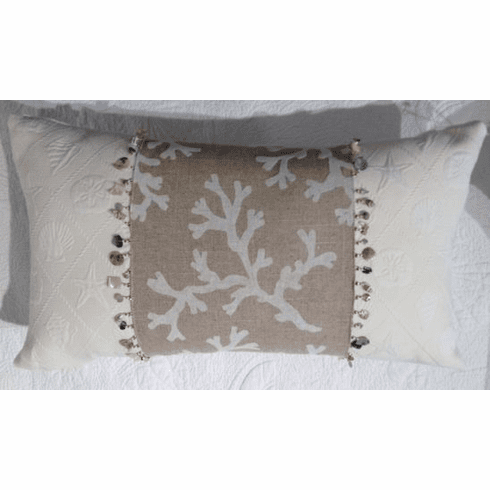 Oblong Coral Pillow
