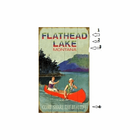 Personalized Vintage Lake Sign