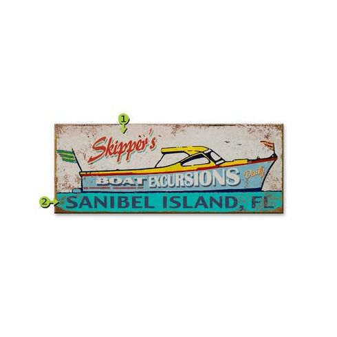 Skipper Boat Sign