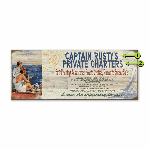 Vintage style Nautical sign Captain Dave