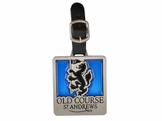 Old Course Square Stained Glass Bag tag