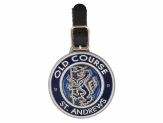 Old Course Syained Glass Round Bag Tag