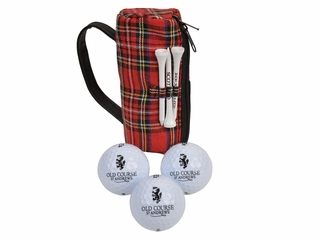 Old Course Tartan 3 Ball Puch