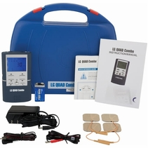 QUAD COMBO TENS Unit, Muscle Stimulator, Interferential Unit and Microcurrent in One