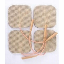 4 PACKS OF 4 (16 Total) 2 Inch LGMedSupply Premium Square Electrode Pads (4 per pack)  (20-30 Uses)