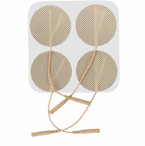 4 PACKS OF 4 - 2 Inches Premium Round Electrode Pads (20-30 Uses) - (4 per pack)