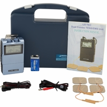 """BACKORDER-LG-TEC COMBO"" DIGITAL Dual Combo TENS Unit  &  Muscle Stimulator Complete Kit w/  8 Treatment Modes"