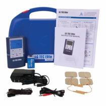 BACKORDER-TOP SELLER LG-TEC ELITE Combo TENS Unit and Muscle Stimulator with AC Adapter, Battery, Carrying Case, & Electrodes Included