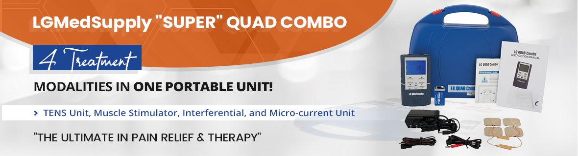 (EXTRA 20% OFF) QUAD COMBO TENS Unit, Muscle Stimulator, Interferential Unit and Microcurrent in One