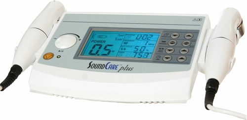 LIMITED TIME PRICE - Clinical Care Plus Ultrasound Unit with 2 Sound Heads (2 Frequencies: 3-MHz and 1-MHz Ultrasound)