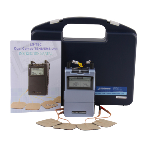 TENS Unit and Muscle Stimulator Combo System