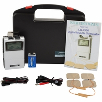 """LG-7500"" Electronic Muscle Stimulator  - DIGITAL Dual Channel Complete Kit"