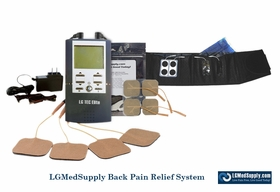 LG-BACKELITE Complete Back Pain Relief Electrode System (Includes Electrode Back Brace with LG-TEC ELITE Combo Unit
