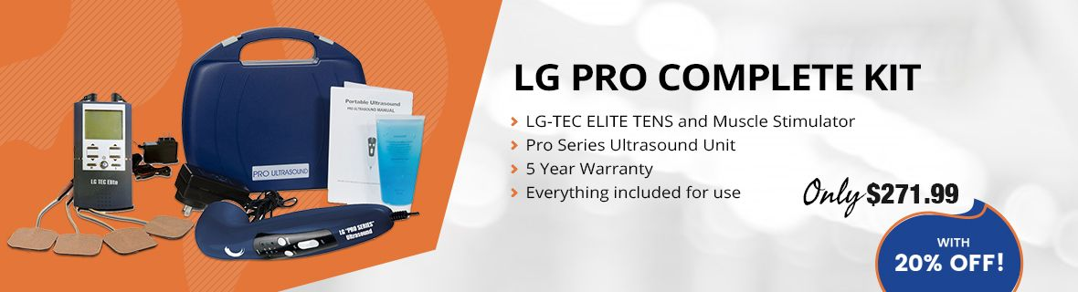 "(EXTRA 20% OFF) ""LG-PROCOMPLETE"" TENS/Muscle Stimulator Combo and Pro Ultrasound Unit Complete Treatment System"