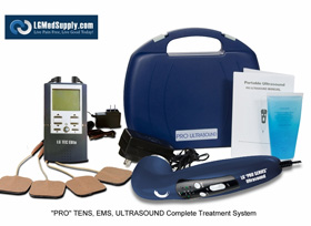 """LG-PROCOMPLETE"" TENS/Muscle Stimulator Combo and Pro Ultrasound Unit Complete Treatment System"