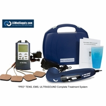 "BACK IN-STOCK! ""LG-PROCOMPLETE"" TENS/Muscle Stimulator Combo and Pro Ultrasound Unit Complete Treatment System"
