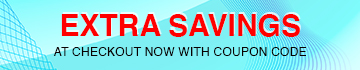 Extra Savings at Checkout now with Coupon Code