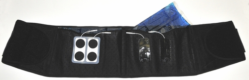 Compression ELECTRODE Back Brace (Use with TENS, Muscle Stimulators, and Electrotherapy Devices)