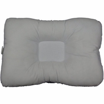 "NEW PRODUCT - Cervical Indentation Pillow, Filled with Memory Foam Chips, Velour Cover, Full Size 23""x16"""