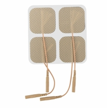 ONE PACK of 1.5 Inch x 1.5 Inch Square Electrode Pads (4 per pack) (20-30 Uses) - CLICK to Select Quantity Needed