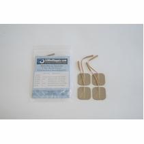 """ONE PACK of 4 """"Square Series"""" LG Premium 2 x 2 Inch Square Electrode Pads (4 per pack)  (20-30 Uses)"""