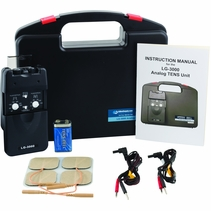 BACKORDER-Professional TENS Machine for Pain Relief w/ Carrying Case, Electrodes, and Battery and 3 Customizable Modes