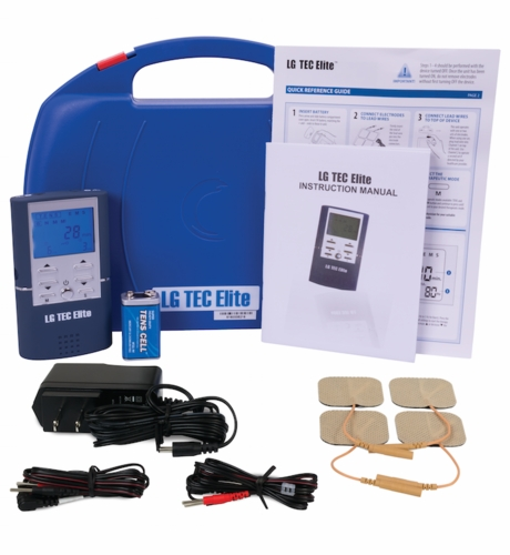 FEATURED TOP SELLER LG-TEC ELITE Combo TENS Unit and Muscle Stimulator with AC Adapter, Battery, Carrying Case, & Electrodes Included