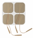 "ONE PACK of 4 ""Square Series"" LG Premium 2 x 2 Inch Square Electrode Pads (4 per pack)  (20-30 Uses)"