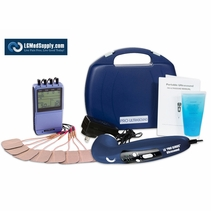 """ULTRA ELITE COMBO"" SERIES - 8 Electrode TENS, Muscle Stimulator, Russian, Interferential and Ultrasound Therapy Ki"