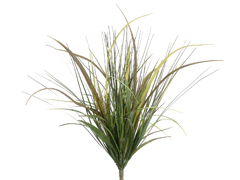"21"" Artificial Onion Grass Bushes - Set of 12"