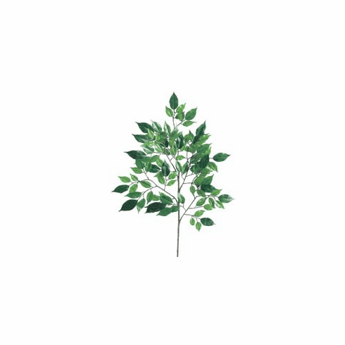 "1 Dozen - 23"" Nitida Silk Ficus Spray / Branch with 104 Leaves"
