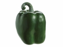 "1 Dozen - 3.5"" Weighted Fat Artificial Green Bell Peppers"