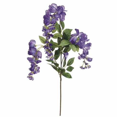 "1 dozen - 38"" Wisteria Artificial Flower Sprays (shown in Purple)"