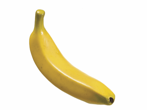 "1 Dozen Artificial Bananas - 7.5"" Weighted"