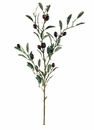 "30"" - Olive Branch Silk Stems with Artificial Olives - Set of 12"