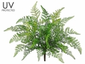 "17"" Outdoor Artificial Leather Ferns - Set of 12"