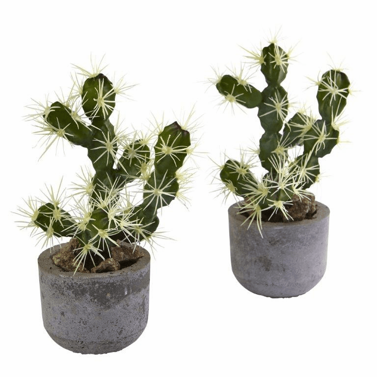 "10"" Artificial Cactus Potted (Set of 2)"