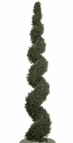 10' Artificial Cypress Spiral Topiary Large Tree - Non Potted