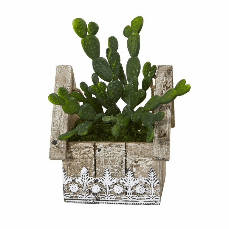 10� Cactus Succulent Artificial Plant in Hanging Floral Design House Planter