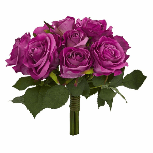 "10"" Rose Bush Artificial Flower (Set of 2)"