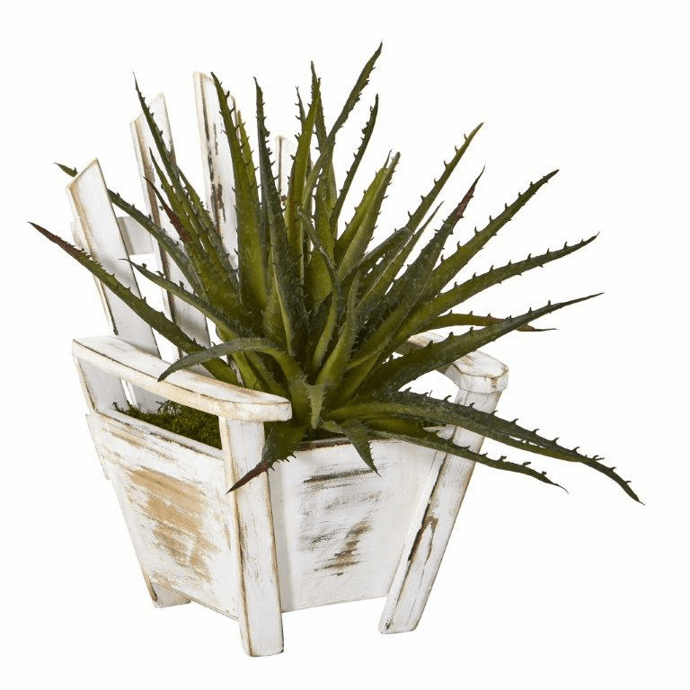 11� Aloe Succulent Artificial Plant in Chair Planter