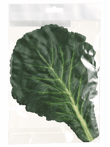 "11"" Artificial Cabbage Leaf (5 ea/bag) - 12 Bags"