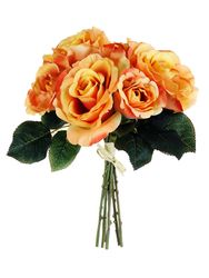 "11"" Artificial Silk Rose Wedding Bouquet Flower Bundle - Set of 12 Bouquets (Shown in Talisman)"