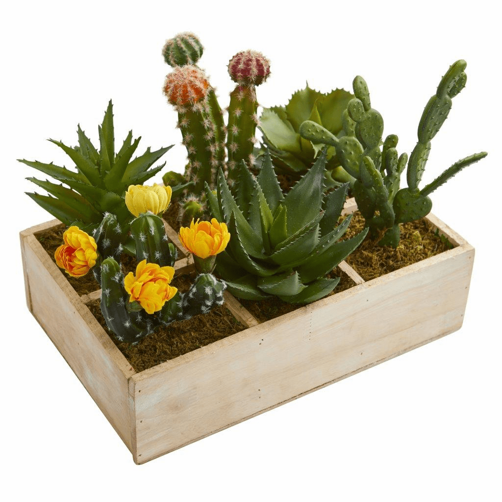 11� Mixed Succulent Garden in Tray Artificial Plant