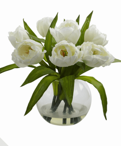 "11"" Tulips Arrangement w/Vase"